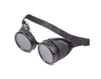 Black welding glasses.