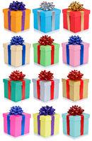 Weihnachten Geschenke Geburtstag Geschenk Weihnachtsgeschenke Hintergrund Sammlung Collage Geburtstagsgeschenke isoliert