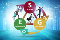 ESG concept as environmental and social governance with business