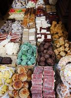 Fidge, cookes, chocolate and assorted desserts in Cuenca Ecuador