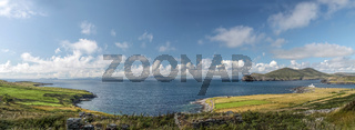 Landscape panoramic view of Valentia Iceland