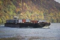 Schifffahrt auf der Donau, St. Nikola an der Donau, Struden, Oberösterreich, Österreich
