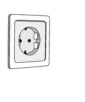 simple drawn electrical outlet, illustration