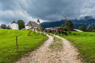 Die Wallfahrtskirche Maria Heimsuchung in Ettenberg im Berchtesgadener Land