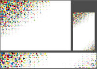 Abstrakter bunter polygonaler Hintergrundsatz