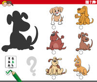 shadows task with cartoon dogs characters