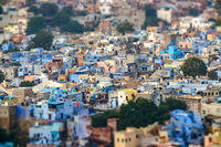 Tilt shift lens - Jodhpur Also blue city is the second-largest city in the Indian state of Rajasthan