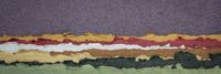 purple sky abstract landscape created with handmade Indian paper