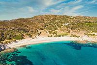 The beach Cheromylos in Evia island, Greece