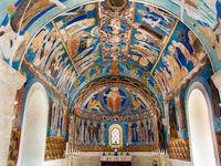 Byzantine frescoes in a Swedish church