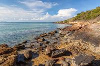 Rayong Thailand, sea rock landscape
