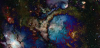 Outer space. Elements of this image furnished by NASA