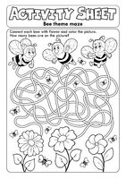 Activity sheet bee theme 1