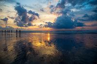 Great sunset view on Kuta beach