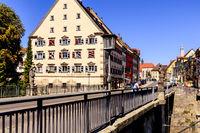 Stadt Rottweil, Stadtbild, alte Hochbrücke