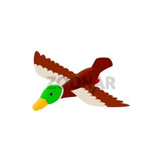 Duck decoy isometric 3d icon
