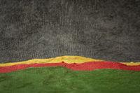 dark sky over hills  abstract paper landscape
