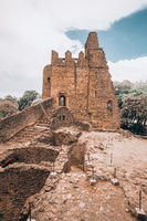 Fasil Ghebbi, royal castle in Gondar, Ethipia