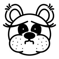 Lustiger Bär - unrasiert