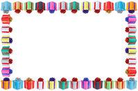 Weihnachten Geschenke Geburtstag Weihnachtsgeschenke Karte Rahmen schenken Textfreiraum Copyspace
