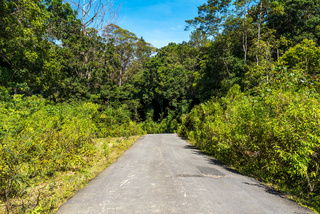 Straße auf der Insel Samosir auf Sumatra