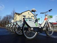 Leihstation für Elektrofahrräder am Bahnhof Weilerswist