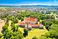 Cakovec old town in green park aerial view