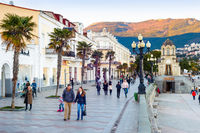 People walking, embankment, Yalta, Crimea