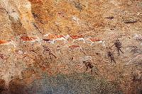 White lady wall paintings in Brandberg,Namibia