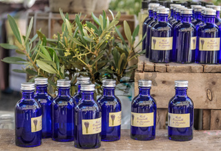 Lavender oil on the market in the village of Gordes