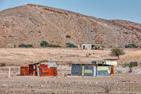 Traditional poor african house, huts, Erongo Namibia