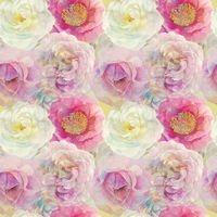 Seamless floral design with rose flowers for background