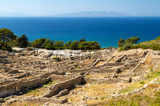 Excavation site of the ancient city of Kamiros at the westside of Rhodes island, Greece