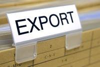 Export auf einem Aktendeckel
