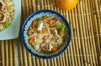 Lachano chicken soup