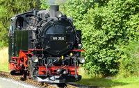 Dampflok 99 758 der Schmalspurbahn in Jonsdorf