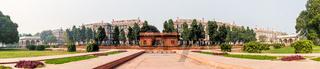 Red Fort of Delhi, India, Zafar Mahal pavilion panorama