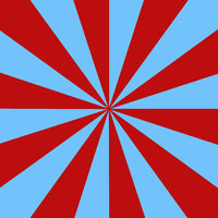 Rays light blue and red