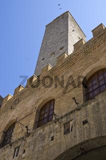 Dorfansicht San Gimignano, Toskana - City view of San Gimignano, Tuscany