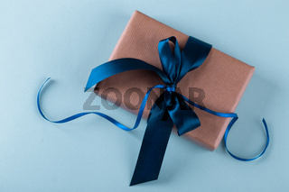 Vintage gift box with ribbon