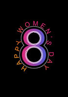 Happy women s day. Text with logo.