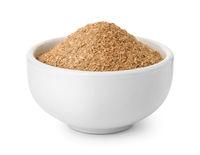 Ceramic bowl of bran flour