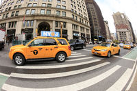 Traffic jam on the street in New York City. Manhattan, New York City