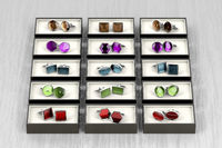Group of different cufflinks