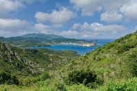 view to Portoferraio,Island of Elba,Tuscany,mediterranean Sea,Italy