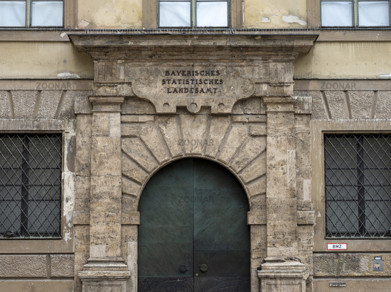 Eingang Bayerisches Statistisches Landesamt - München