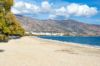 The beach Galida of Karystos in Evia island, Greece
