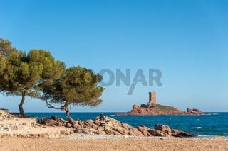 Insel Ile d´Or am Cap Dramont bei Saint-Raphael