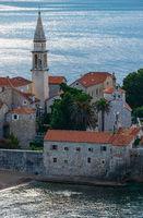 Budva town morning summer view (Montenegro).