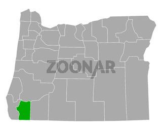 Karte von Josephine in Oregon - Map of Josephine in Oregon